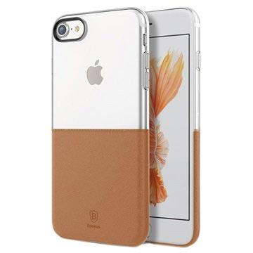 iPhone 7 Baseus Premium Maker Cover Doorzichtig-Bruin