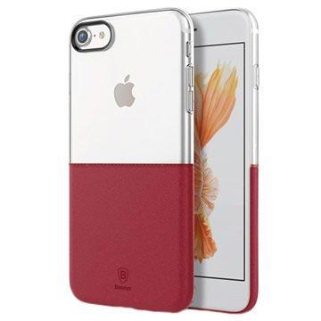 iPhone 7 Baseus Premium Maker Cover Doorzichtig-Rood