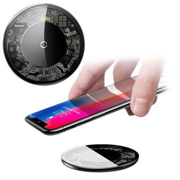 Baseus Simple Ultra-Thin Qi Draadloze Oplader 10W Doorzichtig