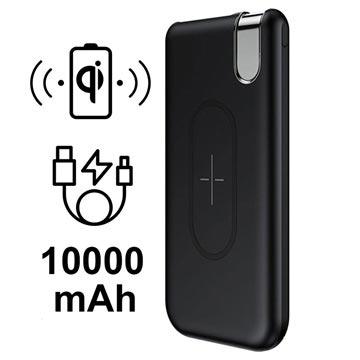 Baseus Thin Version Qi Draadloze Oplader-Powerbank 10000mAh Zwart