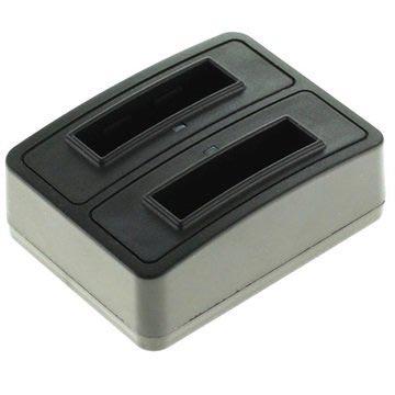 Dubbele Batterijlader Nikon EN-EL11, Pentax D-Li78, Sony NP-BY1 Zwart
