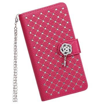 Nokia Lumia 930, Lumia Icon Luxury Wallet Leren Hoesje Hot Pink