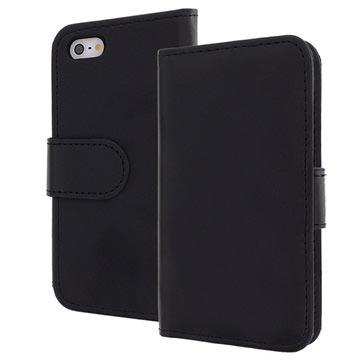 iPhone 5-5S-SE Bookstyle Leren Hoesje Zwart