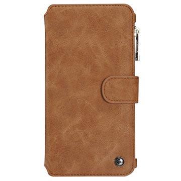 iPhone 6-6S Caseme Multifunctionele Wallet Leren Hoesje Bruin