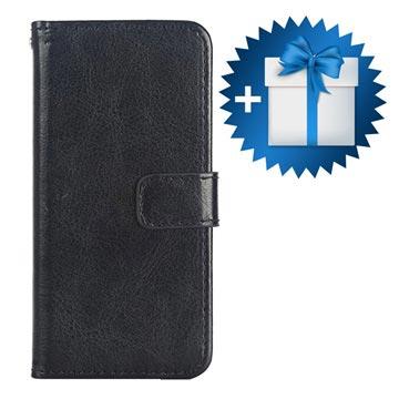 iPhone SE Klassieke Wallet Hoesje Zwart