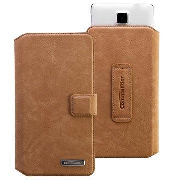 Commander Elite Book Universeel Wallet Case XXL 5.7 Nubuk Bruin