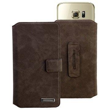 Commander Elite Book Universeel Wallet Case XXL 5.7 Nubuck Grijs