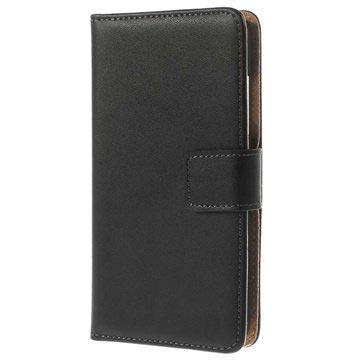 Nokia Lumia 635, Lumia 630 Wallet Leren Hoesje Zwart