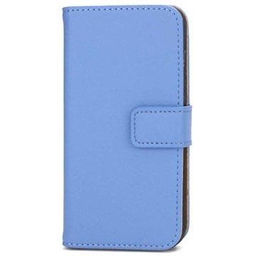 iPhone 5-5S-SE Wallet Leren Hoesje Blauw
