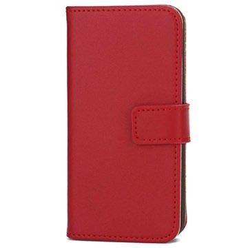 iPhone 5-5S-SE Wallet Leren Hoesje Rood
