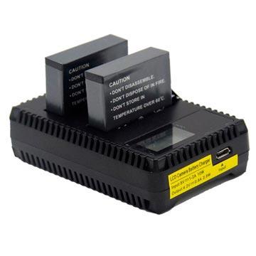 GoPro Hero4 LCD Dubbele Batterij Oplader Zwart