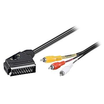 Scart naar Composiet kabel 3 meter
