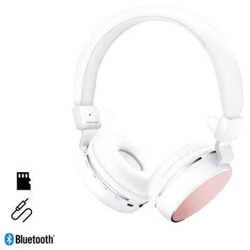 HyperGear V60 Opvouwbare Draadloze Koptelefoon Wit-Roze