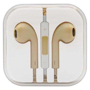 In-ear Koptelefoon iPhone, iPad, iPod Geel