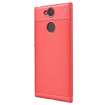 Sony Xperia XA2 Ivso Gentry Textuur TPU Case Rood