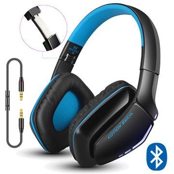 Kotion Each B3506 Bluetooth Draadloze Koptelefoon Zwart-Blauw