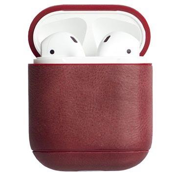 Krusell Sunne Apple AirPods Leren Tas Vintage Rood