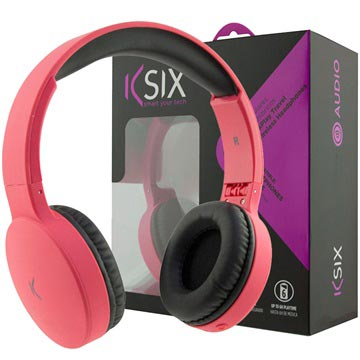 Ksix Go&Play Travel Opvouwbare Draadloze Koptelefoon Roze