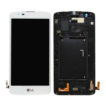 LG K8 Voorzijde Cover & LCD Display - Wit