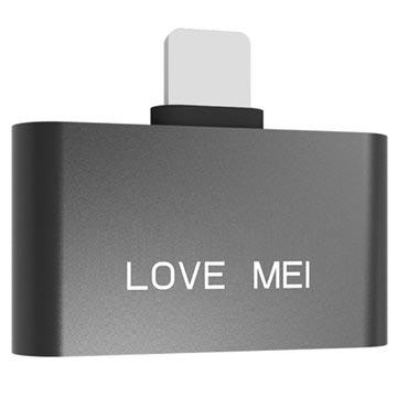 Love Mei Lightning Adapter iPhone X-8-8 Plus Zwart