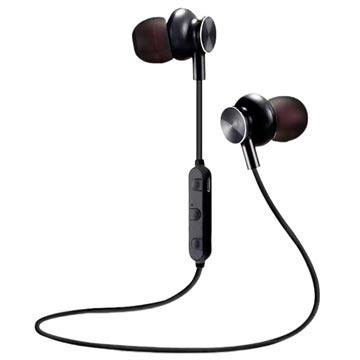 M6 Magnetisch Bluetooth In-ear Draadloze Koptelefoon Zwart