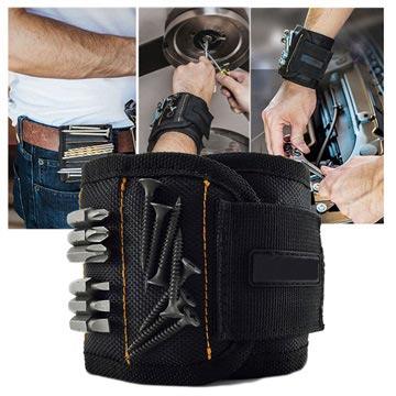 Magnetische armband-houder voor schroeven en kleine gereedschappen