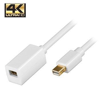 Mini DisplayPort verlengkabel 1 meter wit