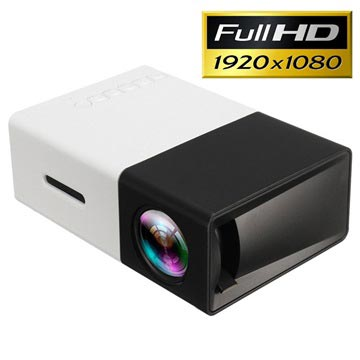 Mini Draagbare Full HD LED Projector YG300 Zwart-Wit