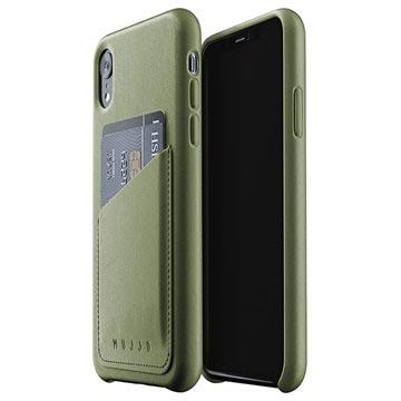 Mujjo Full Leder iPhone XI Wallet Cover Groen