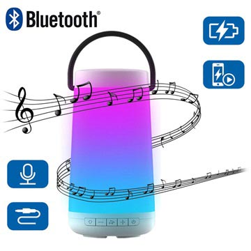 NewRixing NR-2000 Colorful LED Bluetooth Speaker Wit