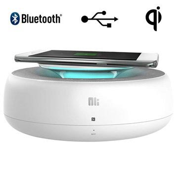 Nillkin Enjoy Cozy MC2 Bluetooth Speaker & Draadloze Oplader Wit