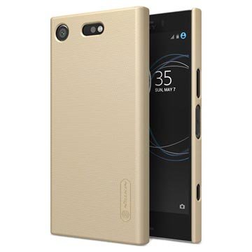 Sony Xperia XZ1 Compact Nillkin Super Frosted Shield Cover Goud