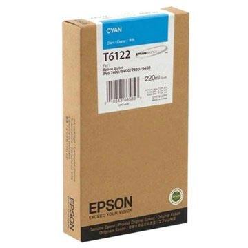 Epson T6122 Inktcartridge - Stylus Pro 7400, Pro 7450, Pro 9400 - Cyan
