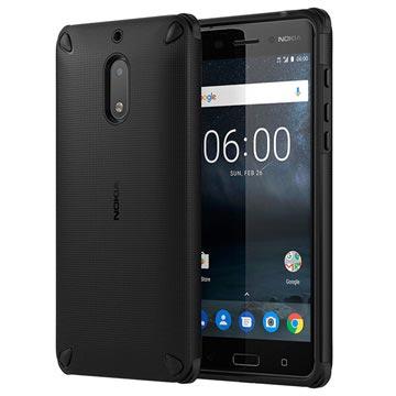 NOKIA Rugged Back Case voor Nokia 6 Zwart