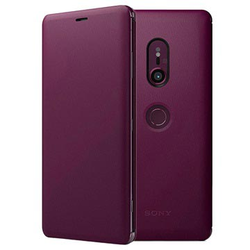Sony Xperia XZ3 Style Cover Stand SCSH70 Bordeaux Rood