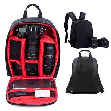 Premium Outdoor DSLR Camera Rugzak Zwart-Rood