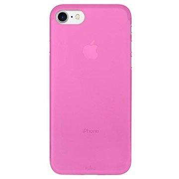 iPhone 7 Puro 0.3 Ultradun Siliconen Hoesje Roze
