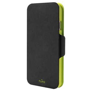 PURO Puro iPhone 6 Plus Bi-Color Wallet 3 Cardslot + Money Pocket Black- G (IPC655WALLETBLK2)