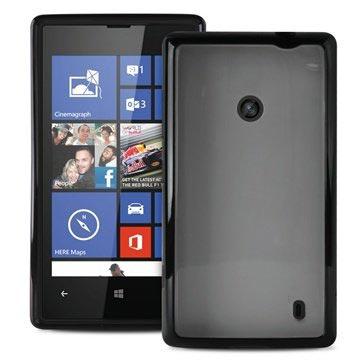 Nokia Lumia 520, Lumia 525 Puro Clear Siliconen Hoesje Zwart