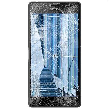 Sony Xperia Z3 LCD & Front Cover Reparatie Zwart