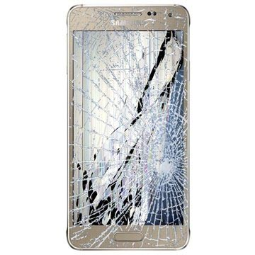 Samsung Galaxy Alpha LCD & Touchscreen Reparatie Goud