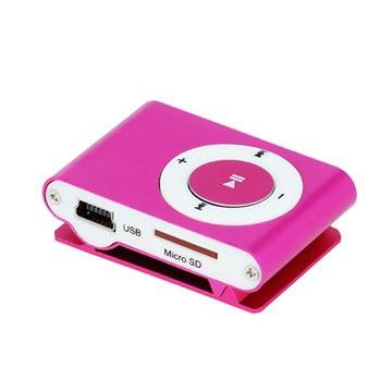 Setty Mini Mp3-Speler met Koptelefoon Hot Pink