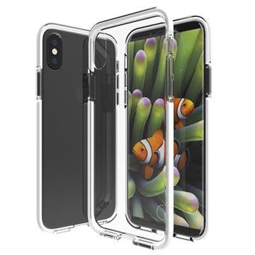 iPhone 8 Shockproof Hybrid Case Doorzichtig-Wit
