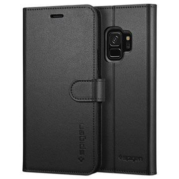 Samsung Galaxy S9 Spigen S Wallet Case Zwart