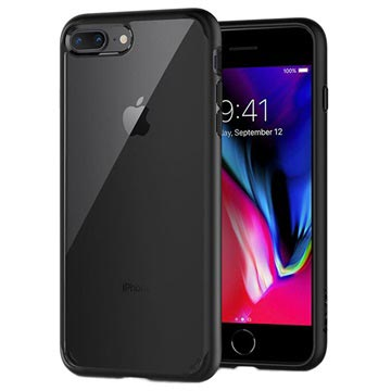 Spigen Ultra Hybrid 2 Apple iPhone 8 Plus Case Zwart voor iPhone 7 Plus, iPhone 8 Plus