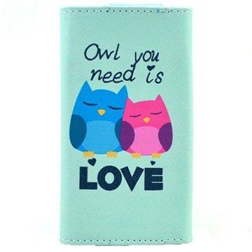 Universele Stijlvol Portemonnee-Hoesje L Owl You Need Is Love