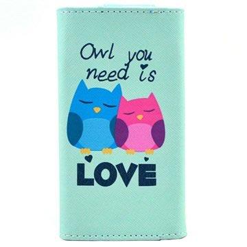 Universele Stijlvol Portemonnee-Hoesje XL Owl You Need Is Love