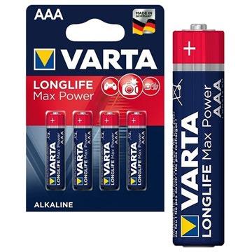 Varta Longlife Max Power AAA Batterij 4703110404 - 1.5V - 1x4
