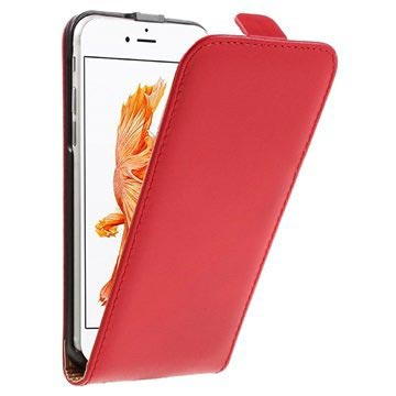 iPhone 7 Verticale Flip Case Rood
