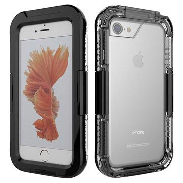 iPhone 7 Waterdicht Hoesje Zwart